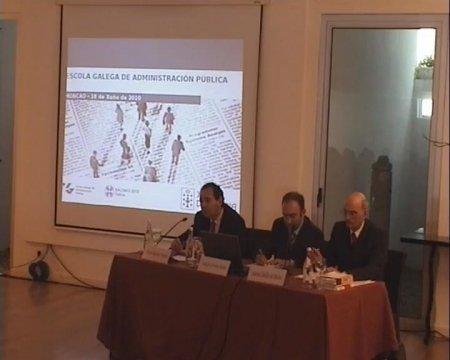 Prof. Dr. Juan Raposo. Profesor Titular da Universidade da Coruña. Grabación lado mesa ponentes - Seminario luso-galaico de dereito local. Dereito do Urbanismo